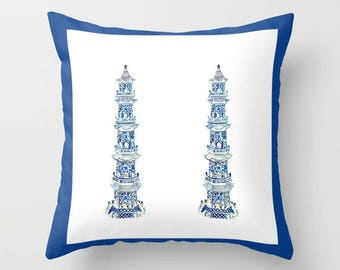 PAGODA PILLOW - 4 sizes -  (indoor and outdoor fabrics)