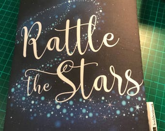 Rattle the stars bookbestie book sleeve padded and lined HARDBACK size 2 WEEKS till dispatch