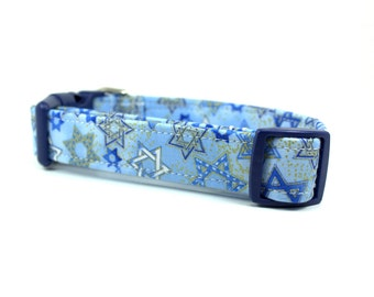 Hanukkah Dog Collar - Holiday Dog Collar - Chanukah Dog Collar - Blue Dog Collar - Girl Dog Collar - Boy Dog Collar