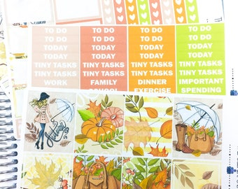Fall Fashion Weekly Kit | Planner Stickers, Weekly Kit, fall weekly kit, Vertical Planner Kit, autumn weekly kit, leaves weekly kit, pumpkin