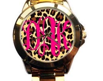 Gold Monogrammed Watch