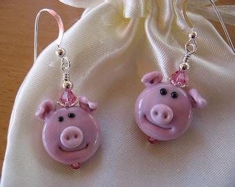 Pig Earrings, Farm Animals, Piggy Earrings, Oink Earrings, Whimsical Earrings, Pig Jewelry, Hog Earrings, Swine Earrings, Animal Earrings