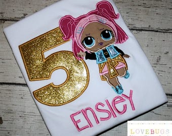 Custom Girls LOL Cutie Doll Birthday Shirt ~ Embroidered, Applique, Monogrammed - Many Sizes Available!