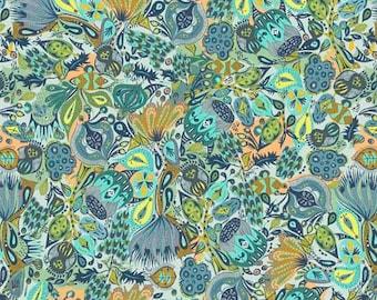 Free Spirit Fabrics - Garden Dreams Shannon Newlin - Secret Garden - Color: Blue - Item # PWSN009.BLUEX