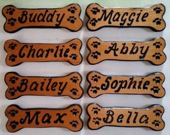 Personalized Dog Bone Signs, Dog Bones, Custom Dog Name Signs, Dog House Signs, Personalized Signs,  Carved Wood Signs,  Dog Bone Add ons