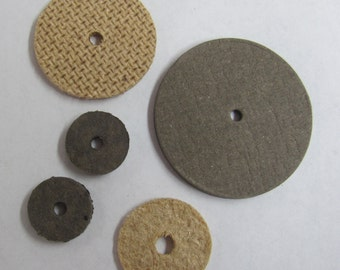 """1-1/4"""" Discs for Teddy Bear Making - A bag of 100  1-1/4"""" Discs. Thickness: 1/8"""" with a 1/8"""" Center Hole"""