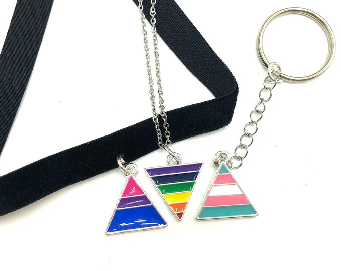 PRIDE: bisexual, transgender, pride flag jewelry