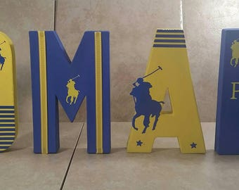 Andy Custom Order Personalized Name Letters   Custom Party Letters    Birthday Baby Shower Letters
