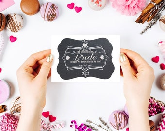 Bridesmaid Thank you card with Chalkboard Design