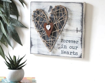 MEMORIAL GIFT | Bereavement gift | Condolence gift | Sympathy Gift | Forever in our Hearts | Lost loved one | Heart | Grief gift