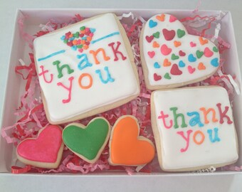 Thank You Cookie Gift Set, sugar cookies, thank you cookies, cookies, thank you gift