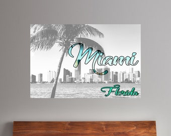 Miami Cityscape | Miami Decor | Urban Art | Miami Art | Miami Art Print | Miami Art | Miami Decor | Miami Florida