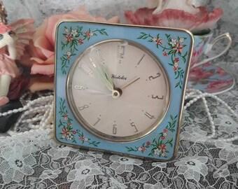Gorgeous vintage floral westclox alarm clock
