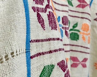 Hand embroidery and loom weaving blouse