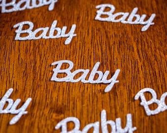 Silver Glitter Baby Shower Confetti