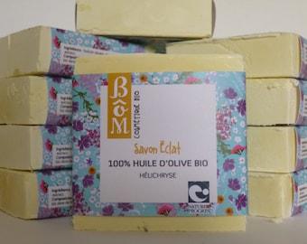 Organic helichrysum organic olive oil SOAP 100%