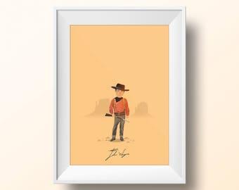 John Wayne - The Searchers Poster