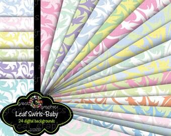 Digital Paper Printable Paper Baby Shower Digital Paper Printable Invitation Paper Pastel Background Paper - Instant Download