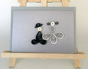 The special greeting card to the wedding / quilling / wedding / marriage / wedding invitation