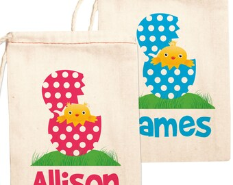 Personalized Easter Gift Bags Custom Easter Bags, Easter Chick Gift Bags
