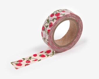 RASBERRY WASHI Tape | Masking Tape | Korean Washi Tape | Gold Foil | Deco Tape | Scrapbooking | Japanese Tape | Paper Tape | DIY | Deco Tape