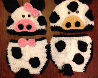 Cow diaper cover sets