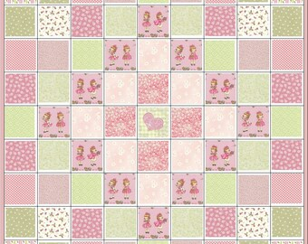 Besties Forever~Young Girl~Toddler~Precut Quilt Kit~Hearts~Gingham~Besties Rule~Daisies~Fabric~QK#111