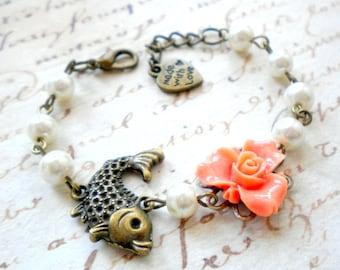 Flower Girl Bracelet Gifts For Children Goldfish Bracelet Orange Bracelet Children Jewelry Baby Girl Bracelet Flower Girl Gift