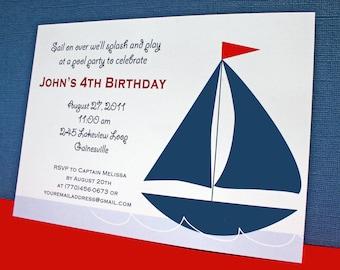 Nautical Sailboat Invitations