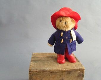 Paddington Bear, Vintage Paddington, Red Boots, Red Hat, Teddy Bear, London, 1981, Music Box, You Are my Sunshine, Darkest Peru, Eden Toys