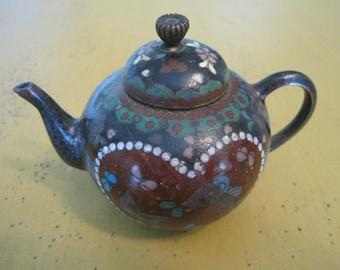 Vintage Miniature Cloisonne Teapot