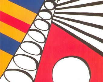 Pennsylvania Ballet Alexander Calder Under the Sun 1976 Ballet print 11 by 14 - modern abstract design