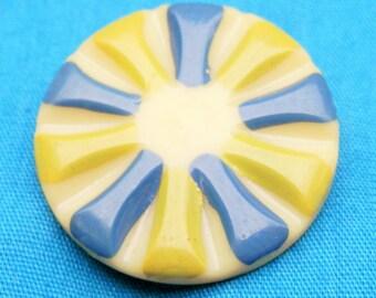 Fabulous Vintage Celluloid Button
