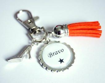 Bravo bag charm key chain - Orange