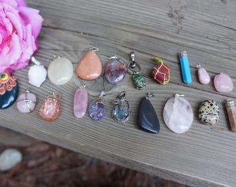 Customizable Assorted Gemstone Pendants