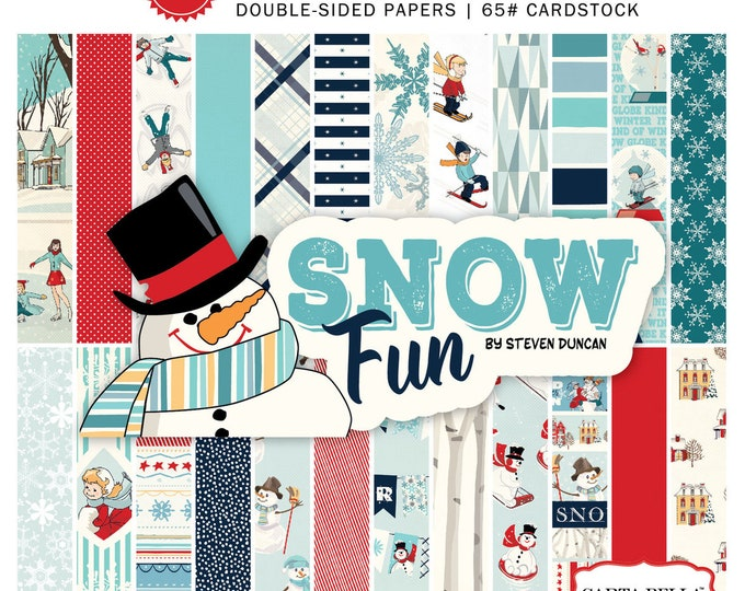 Carta Bella SNOW FUN Snowman 6x6 Scrapbook Paper Pad
