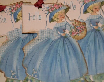 HELLO Pretty Lady GIFT TAGS