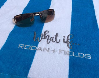 Rodan + Fields Beach Towel, Beach Towel, Rodan and Fields, Towel