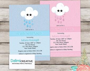 Baby Shower Invitation - Baby Sprinkle Invitation - Blue or Pink Blanket Baby Shower Invite - Print Yourself Invitation!