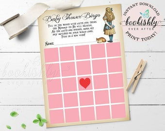 Alice in Wonderland Baby Shower Game in Pink PRINTABLE Baby