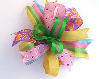 Easter bow for wreaths, Easter basket bow, lantern bows, holiday bows, wedding bows, spring holiday decor