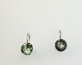Black Diamond CRYSTALIZED Swarovski element earrings
