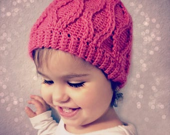 Download  Now - CROCHET PATTERN Cable Tryst Beanie - Sizes Baby to Adult Ladies - Pattern PDF