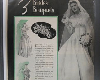 "FAS-L 155  "" Brides Bouquets   ""  Ad -   Jan 1945"