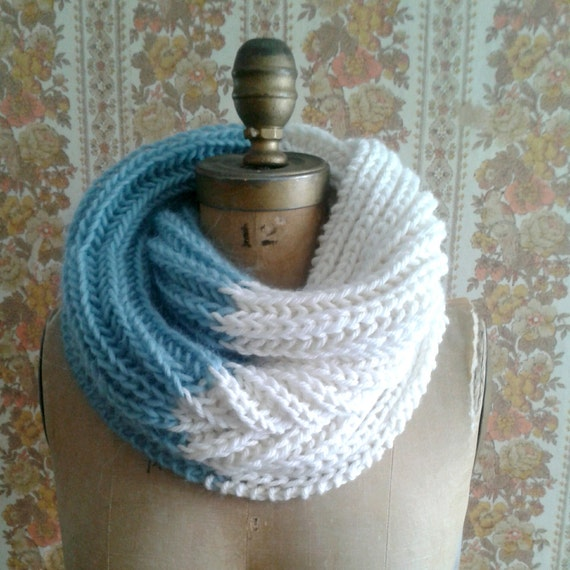 Knitting Pattern Infinity Scarf Cowl Instant Pdf Download Easy
