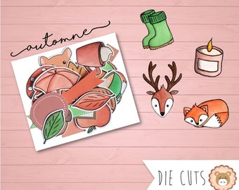 Watercolor autumn cuts die - cuts - embellishments