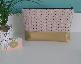 Toilet Kit Pink and gold faux