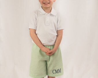 Boys Seersucker Shorts | Monogrammed Shorts | Boys Shorts | Monogram Seersucker | Monogram Shorts | Boys Monogram | Boys Easter Outfit