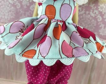 SALE Blythe Dress & Bloomer Set - Balloons