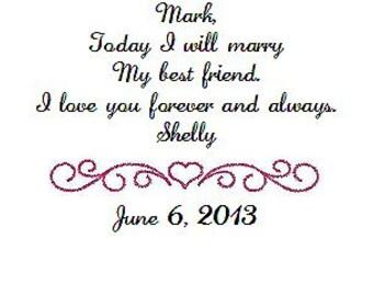 Gift for groom from bride wedding handkerchief